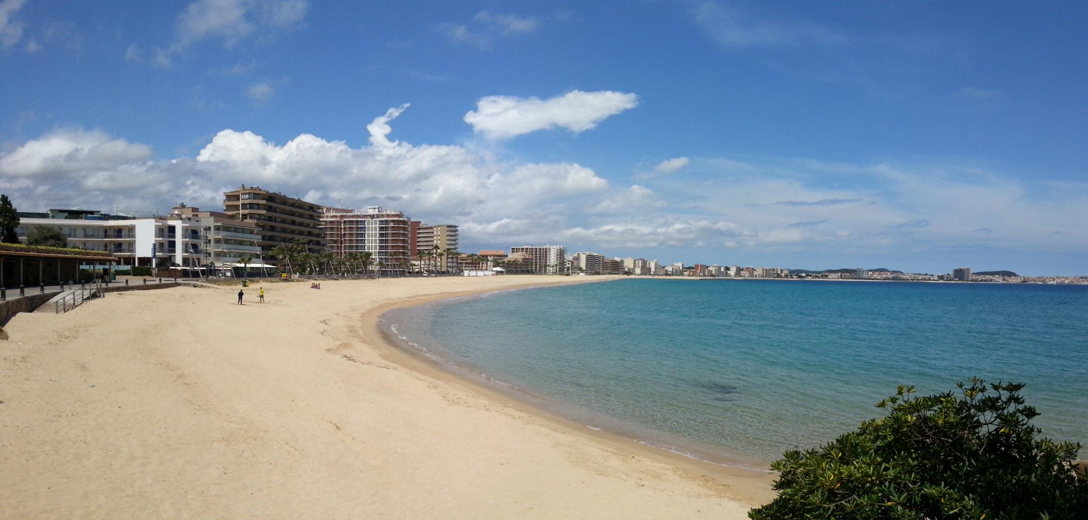 The bay around Palamos