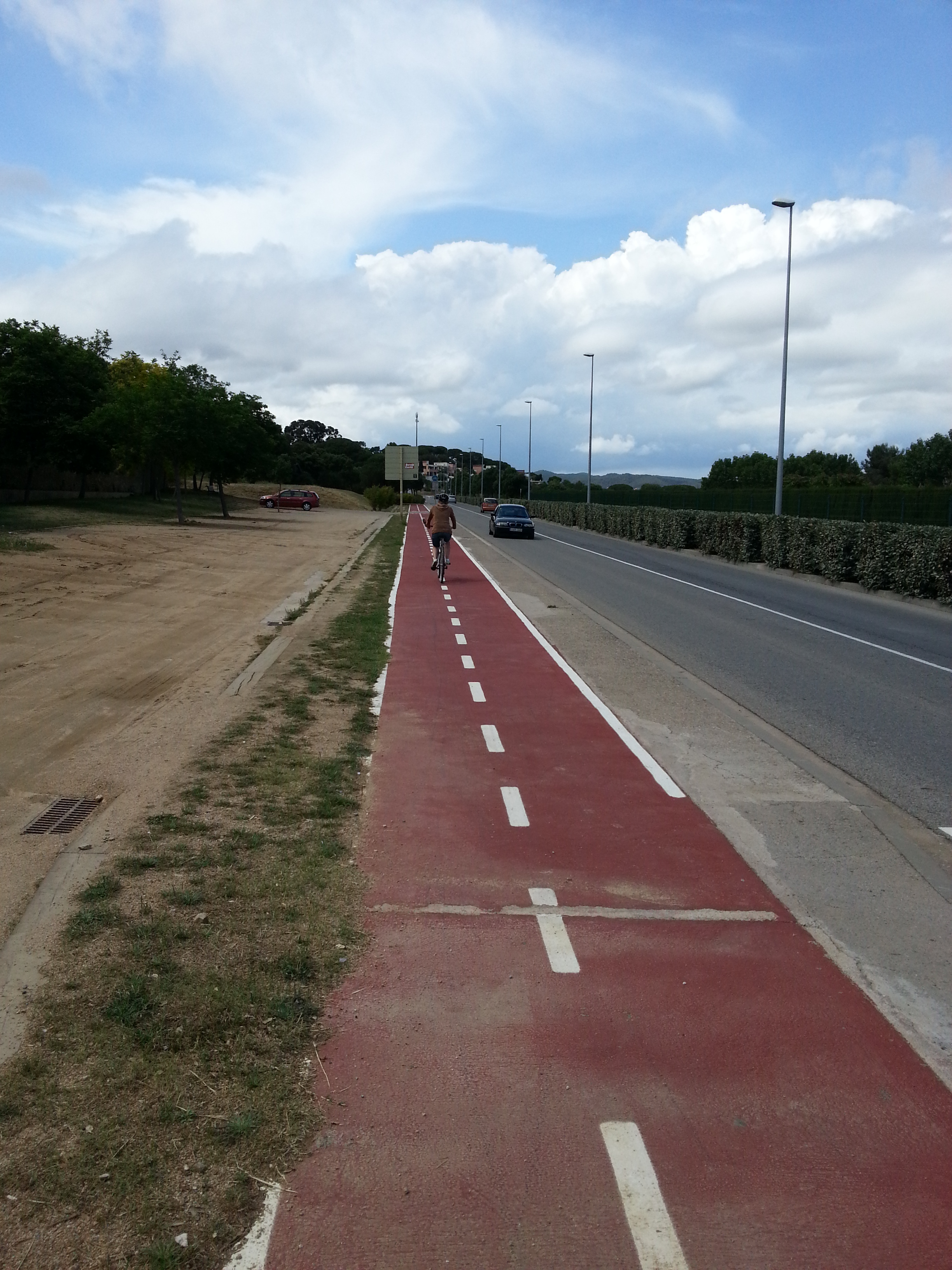 Typical Cycle way in Spain